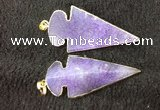 NGP2656 24*53mm - 26*55mm arrowhead agate pendants wholesale