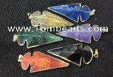 NGP2662 24*53mm - 26*55mm arrowhead agate pendants wholesale