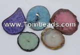 NGP2716 45*50mm - 55*75mm freeform druzy agate pendants