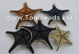 NGP2767 50*55mm - 75*85mm starfish pendants wholesale