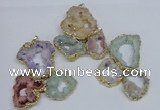 NGP2792 25*30mm - 40*45mm freeform druzy agate pendants