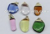 NGP2800 15*30mm - 25*35mm freeform crystal glass pendants wholesale