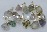 NGP2814 18*25mm - 20*25mm nuggets mixed quartz pendants wholesale