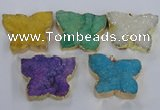 NGP2877 40*50mm - 45*55mm butterfly druzy agate pendants wholesale