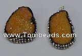 NGP3093 25*35mm � 30*40mm freeform druzy agate pendants