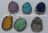 NGP3097 25*35mm � 30*40mm freeform druzy agate pendants