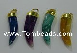 NGP3115 10*40mm - 12*45mm oxhorn agate pendants wholesale