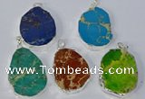 NGP3156 25*35mm - 35*45mm freeform sea sediment jasper pendants