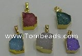 NGP3329 8*12mm - 15*20mm freeform druzy agate gemstone pendants