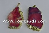 NGP3397 40*45mm - 45*60mm freeform druzy agate pendants