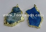 NGP3398 40*45mm - 45*60mm freeform druzy agate pendants