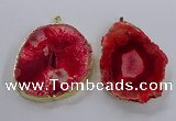 NGP3834 50*65mm - 60*70mm freeform druzy agate pendants