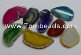 NGP4253 30*50mm - 45*75mm freefrom agate pendants wholesale