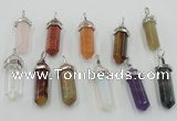 NGP5022 8*30mm sticks mixed gemstone pendants wholesale