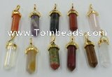 NGP5047 8*30mm sticks mixed gemstone pendants wholesale
