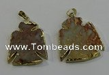 NGP6029 25*35mm - 30*40mm angel serpentine jasper pendants