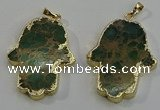 NGP6032 22*40mm - 25*45mm hamsahand sea sediment jasper pendants