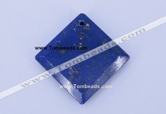 NGP720 6*32mm diamond natural lapis lazuli gemstone pendant