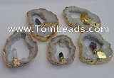 NGP7396 45*50mm - 50*55mm freeform druzy agate pendants