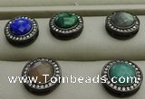 NGP7585 16mm coin mixed gemstone pendants wholesale