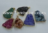 NGP8572 28*45mm - 35*50mm freeform druzy agate pendants wholesale