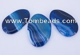 NGP861 5PCS 30-35mm*50-60mm freeform agate gemstone pendants