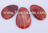 NGP863 5PCS 30-45mm*50-60mm freeform agate gemstone pendants