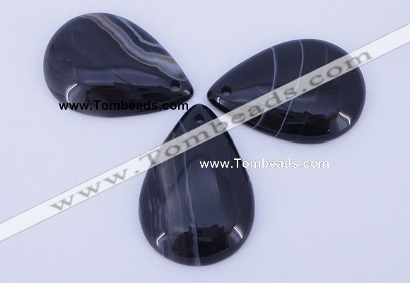 NGP887 5PCS 27*38mm flat teardrop agate gemstone pendants wholesale