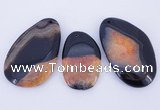 NGP902 5PCS 30-45mm*55-70mm freeform agate druzy geode gemstone pendants