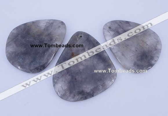 NGP949 5PCS 40-55mm*55-65mm freeform cloudy quartz gemstone pendants