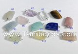 NGP9706 10*16mm horn-shaped  mixed gemstone pendants wholesale