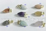 NGP9725 10*16mm bullet-shaped  mixed gemstone pendants wholesale