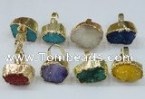 NGR164 22*30mm - 25*30mm freeform druzy agate rings wholesale
