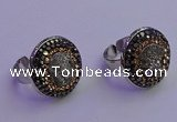 NGR2137 20mm - 22mm coin plated druzy agate gemstone rings