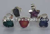 NGR335 10*14mm - 18*20mm freeform druzy agate gemstone rings